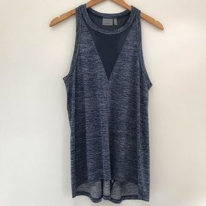 EUC Athleta Mesh Racerback Heathered blue tank top